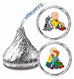 216 Caillou and Friends Hershey Kiss Stickers Labels Party Favors
