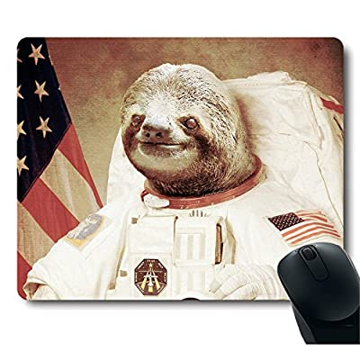 Funy Sloth Dress As A Astronaut Personality Mouse Pad Unique Design Mousepad - 10, Hundredths-Inches, 100, Hundredths-Inches, 19, Hundredths-Pounds, 100, Hundredths-Inches
