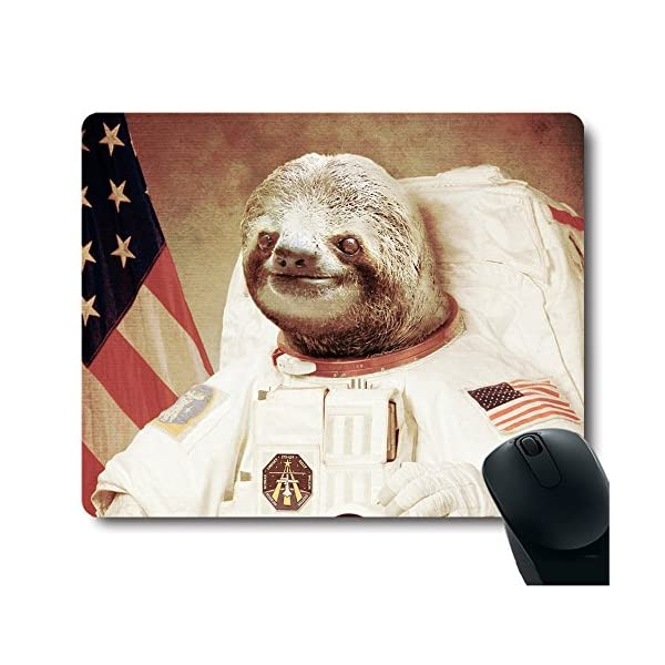 Funy Sloth Dress As A Astronaut Personality Mouse Pad Unique Design Mousepad -