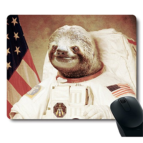 Funy-Sloth-Dress-As-a-Astronaut-Personality-Mouse-Pad-Unique-Design-Mousepad