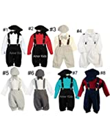 Vintage Dress Suspender Suit Set Boys - Bowtie Suspenders Knickers Suit 5pcs Set