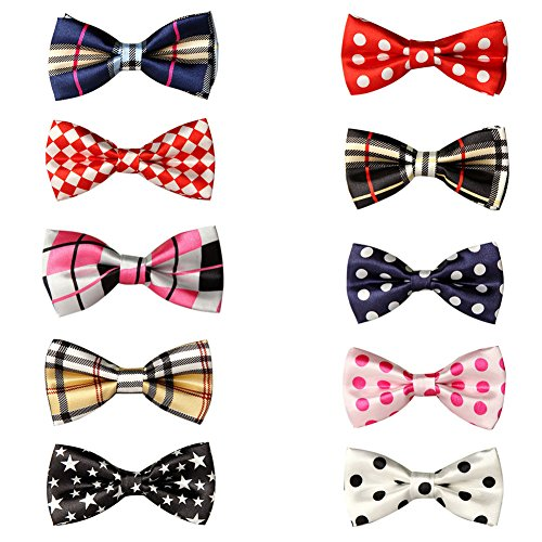 GOGO Pet Bow Tie Collar, Dog Grooming Accessories, 10 PCS Assorted-Set 4