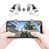 Qoosea PUBG Mobile Game Controllers Triggers Gamepad Sensitive Shoot Aim Joysticks Physical Buttons for PUBG/Fortnite / Knives Out/Rules of Survival for 4.5