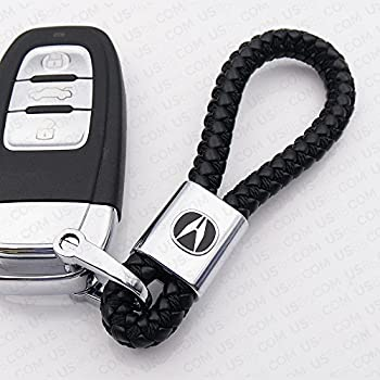 Amazoncom Acura TLX Black Leather Key Chain Keychain Keyfob - Acura keychain