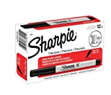 Sharpie 37001 Permanent Markers, Ultra Fine Point, Black Color, 24 Sets of 12 Markers, 288 Markers Total