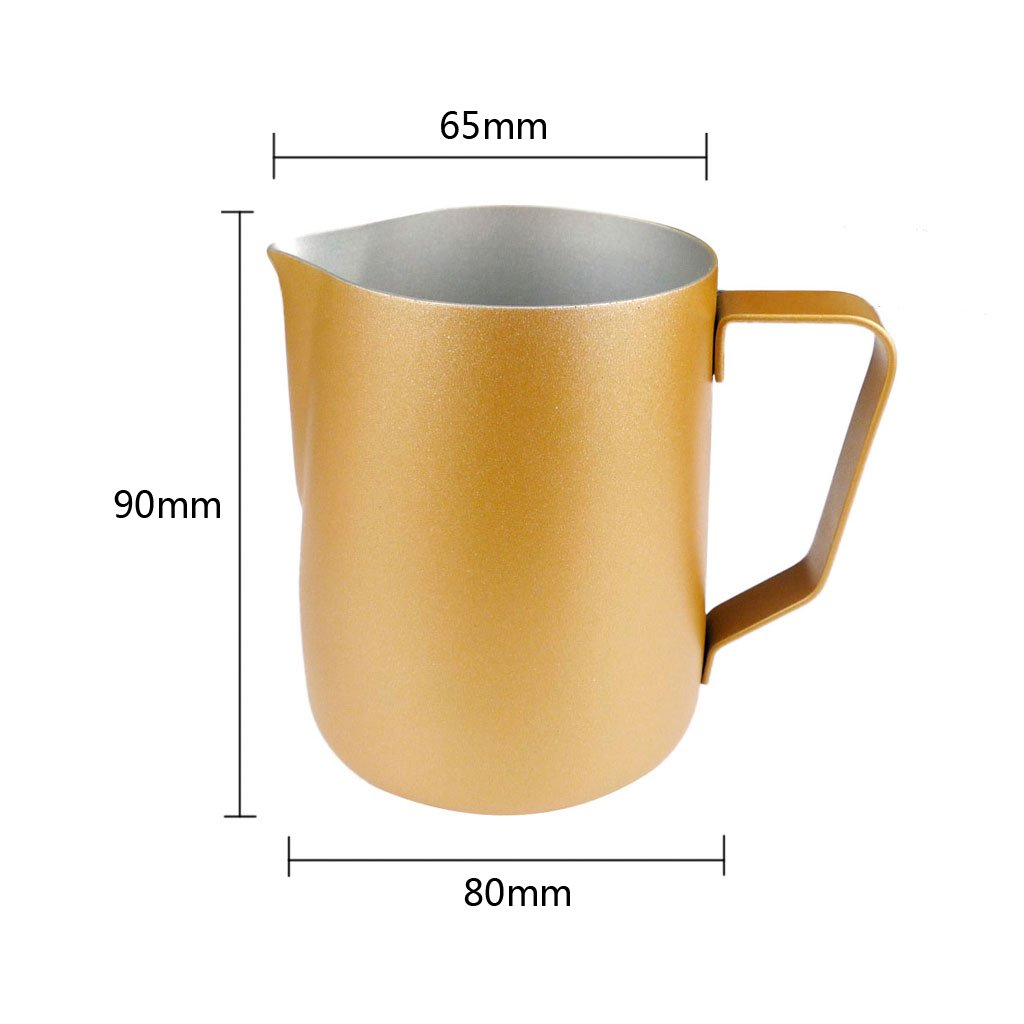 LOVIVER 350ML Thick Stainless Steel Coffee Frothing Milk Latte Art Jug Golden by LOVIVER