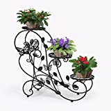 HLC Classic Plant Stand Shelf Holds 3-Flower Pot