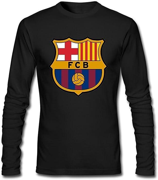 ab451c6066a Men s FC Barcelona Logo Long Sleeve T-shirt Medium  Amazon.co.uk  Clothing