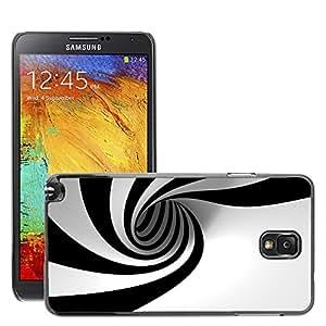 Negro Duro Carcasa Case//m00048181Hypnotic Whirlpool White Aero//Samsung Galaxy Note 3