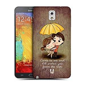 AIYAYA Samsung Case Designs Protect You from Rain Cute Emo Love Replacement Battery Back Cover for Samsung Galaxy Note 3 N9000 N9002 N9005