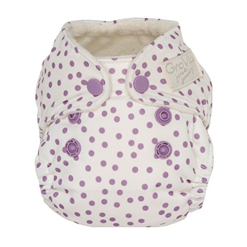 Violet Dot (GroVia Newborn All in One Snap Cloth Diaper (AIO) (Violet Dot))