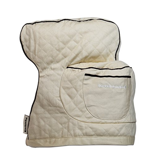 quilted-fitted-stand-mixer-cover-for-kitchen-khaki