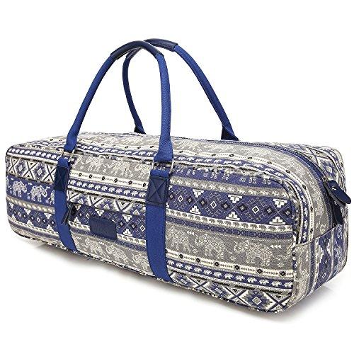 Yoga Bag, Boence Printed Canvas Large Yoga Mat Tote Bag Sport Gym Storage Bag - Size 27