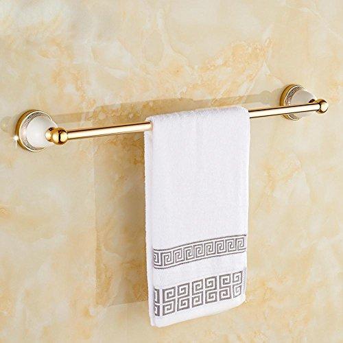 HJKLL-European-style space aluminium bathroom accessories, luxury high-end hardware bathroom single rod rack by HJKLL
