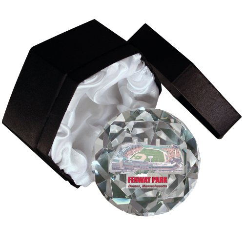 MLB Boston Red Sox Fenway Park 4-Inch High Brillance Diamond Cut Crystal Paperweight