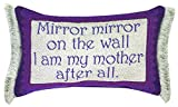 Manual Woodworkers & Weavers Word Throw Pillow,  Mirror Mirror Mother, 12.5 x 8.5""