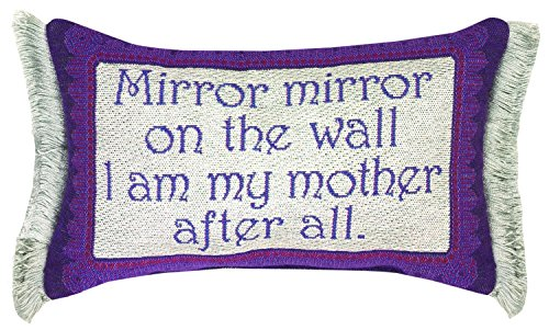 """Manual Woodworkers & Weavers Word Throw Pillow,  Mirror Mirror Mother, 12.5 x 8.5"""" from MWW"""