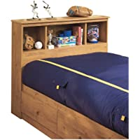 Twin Bookcase Headboard in Country Pine Finish