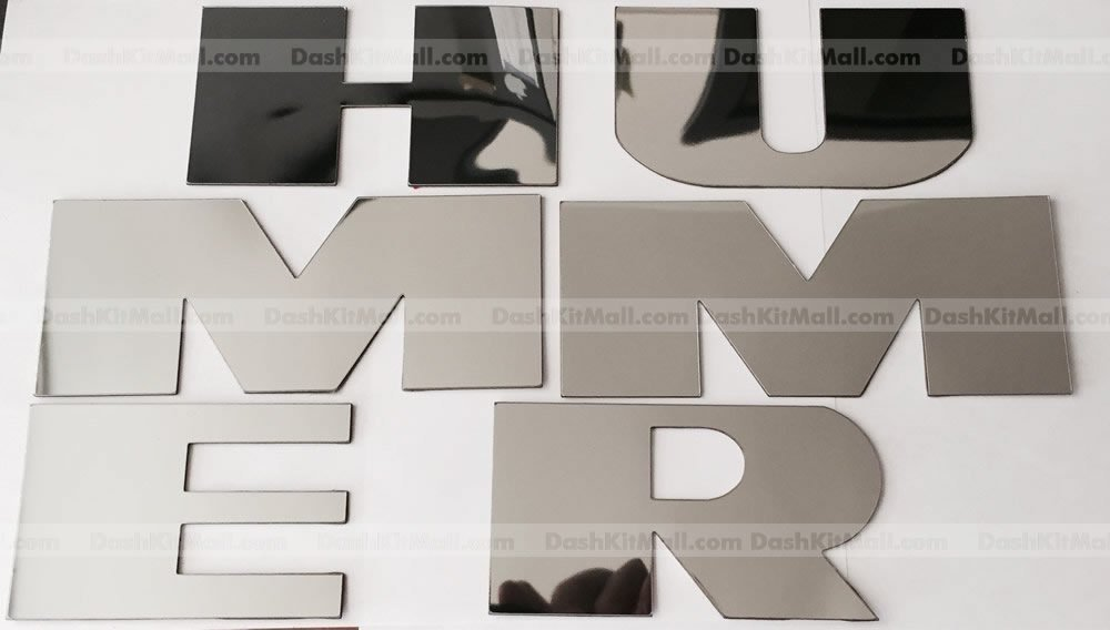 Chrome Rear Bumper Letter Inserts for Hummer H2 Not Decals SFSalesUSA H2-LETTERS