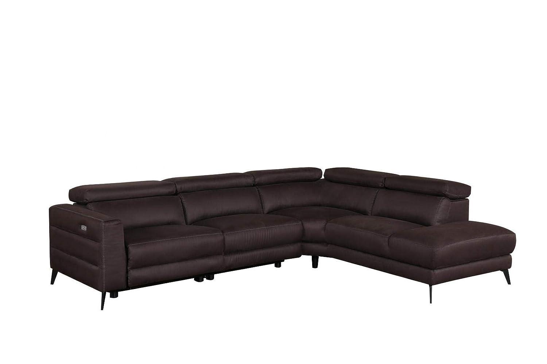 DecoInParis - Sofá de Esquina Relax eléctrico de Tela marrón ...