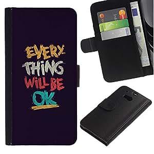 iBinBang / Flip Funda de Cuero Case Cover - Sé Ok motivación - HTC One M8