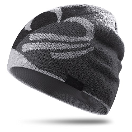- Topnaca Skull Caps Helmet Liner Running Daily Beanie Hat for Men Women, Covers Ears Ultimate Thermal for Hiking Climbing Cycling Football (Black&Gray)