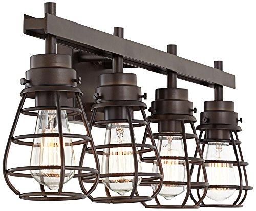 Bendlin 31'' Wide Oil-Rubbed Bronze 4-Light LED Bath Light by Franklin Iron Works (Image #5)