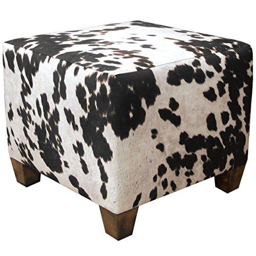 [Skyline Furniture Domino Animal Print Fabric Ottoman] (Skyline Furniture Leather Tufted Bed)