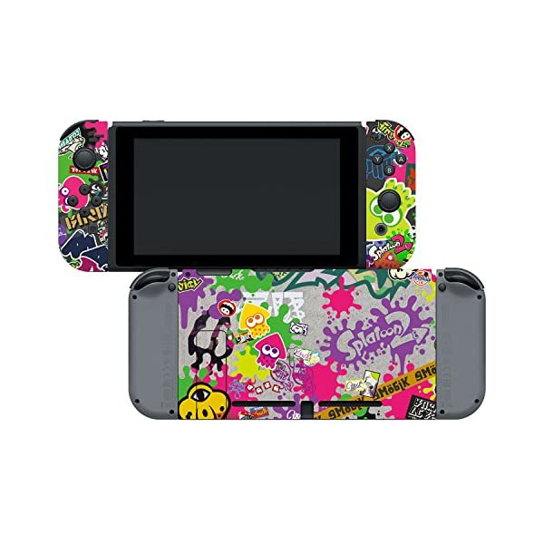 "Controller Gear Nintendo Switch Skin & Screen Protector Set, Officially Licensed By Nintendo - Splatoon 2 ""Stick Em' Up"" - Nintendo Switch 4"