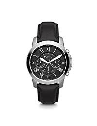Fossil Men's FS4812 Grant Analog Display Quartz Black Watch