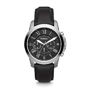 Fossil Men's Grant Analog Analog-quartz Black Watch, (FS4812)