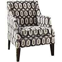 ACME Zarate Pattern Fabric Accent Chair