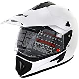 Vega Off Road w1 Motorsports Helmet with Single Visor (White, M)