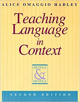 Book Teaching Language in Context by Alice Omaggio Hadley (1993-06-20)