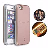 LED case for iphone 6/6S LED Light Selfie Case luxurious Illuminated Phone Back Cover For Iphone 6/6s Cases(Rose Gold)