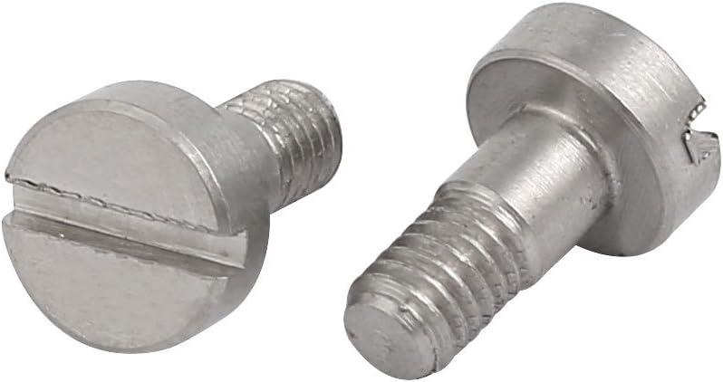 uxcell 5pcs 303 Stainless Steel Slotted Drive Shoulder Bolt 6mm Shoulder Dia 10mm Shoulder Length M4x6mm Thread