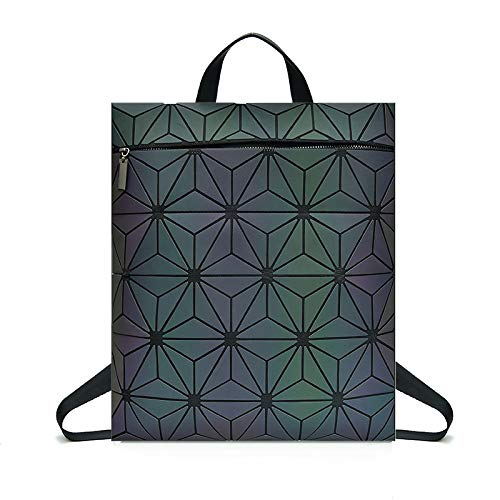 WDBAO Zaino Geometrico Da Donna Borsa A Zaino Rombico Con Motivo Laser Magiccolor