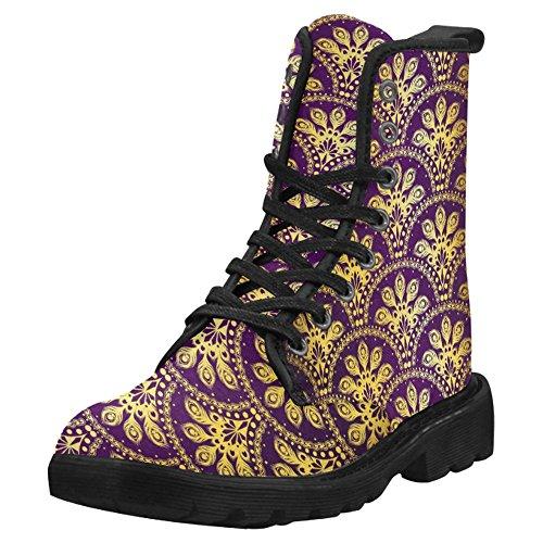InterestPrint Womens Boots Unique Designed Comfort Lace Up Boots Multi 2