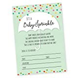 Baby Sprinkle / Baby Shower Invitation, Set of 20 Fill in...