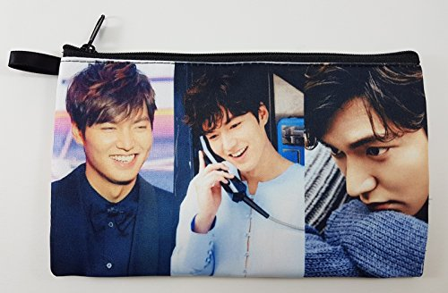 LEE MIN HO Korean Actor BIG Zip Pen Pencil / Cosmetic Makeup Case Bag Pouch Stationery - New York Prada