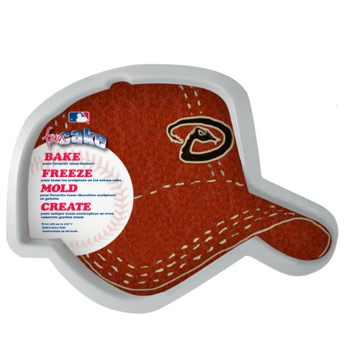 MLB Arizona Diamondbacks Fan Cakes Heat Resistant CPET Plastic Cake -