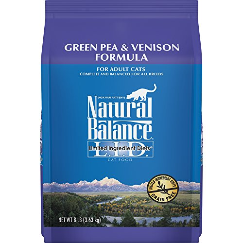 Natural Balance Limited Ingredient Diets Green Pea & Venison Formula Dry Cat Food (1 Pack), 8 ()