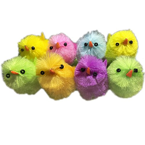 Funpa Plush Chicks, 8Pcs Easter Chick Toy Mini Decorative Chicks Kids Play Toy Party (Play Chick)