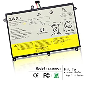 ZWXJ New L13M4P21 Laptop Battery (7.4V 34Wh 4600mAh) for Lenovo IdeaPad Yoga 2 11 Series 121500223 by ZWXJ