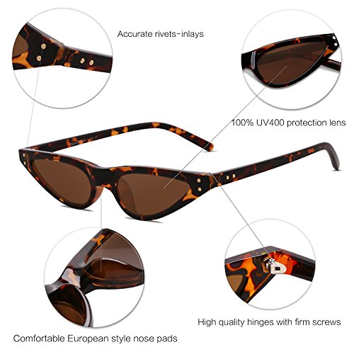 Marco Sol Moda Eye Lente Sunglasses SJ2046 Ojo De Demi Cat Gato C2 Marrón De Gafas SOJOS para Mujer 6qFEgx8nw