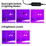 [UPGRADED 2018] Plant Grow Light, 10W Dual Head 360° Flexible Indoor LED Plant Grow Lamp with Adjustable Luminious Level for Indoor Plants, Hydroponic Gardening, Greenhouse, Office