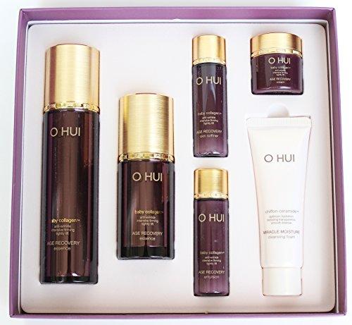 Ohui Essence Limited Special Gift 6 pcs Set 2016 New (Essence 1.5 fl oz/0.6 fl oz, skin softner 20ml, Emulsion 20ml, Cream 7 ml, Cleansing Foam 40 ml