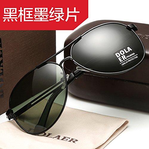 Black gafas redondas conductor fresno gafas hombre bastidor Box espejo sol de pistola negro KOMNY pionero Green conducir del polarizadas Gafas gafas rana ojos masculino de BCWvxwqz