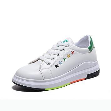 YSFU Zapatillas Zapatillas De Mujer Zapatillas De Plataforma Blancas Zapatillas De Lona Zapatillas De Lona Señoras