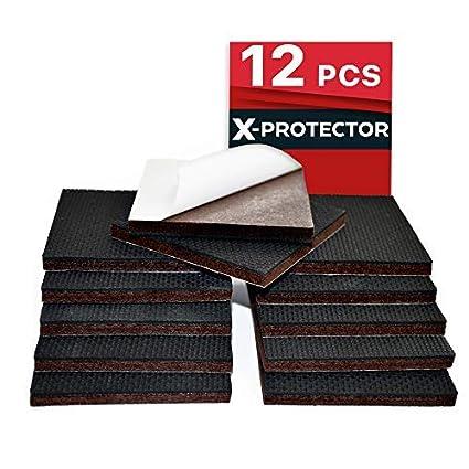 Almohadillas antideslizantes para muebles X-Protector - 12 almohadillas de 7,5 cm Tapones